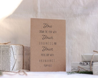 LBC Brown Kraft Paper New Years Card : Psalm 65
