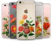 Flowers iPhone Case, iPhone 6 plus case Transparent iPhone Case, iphone 6s case, iphone 6 case, iPhone 6s plus case, Rose iphone 6 case