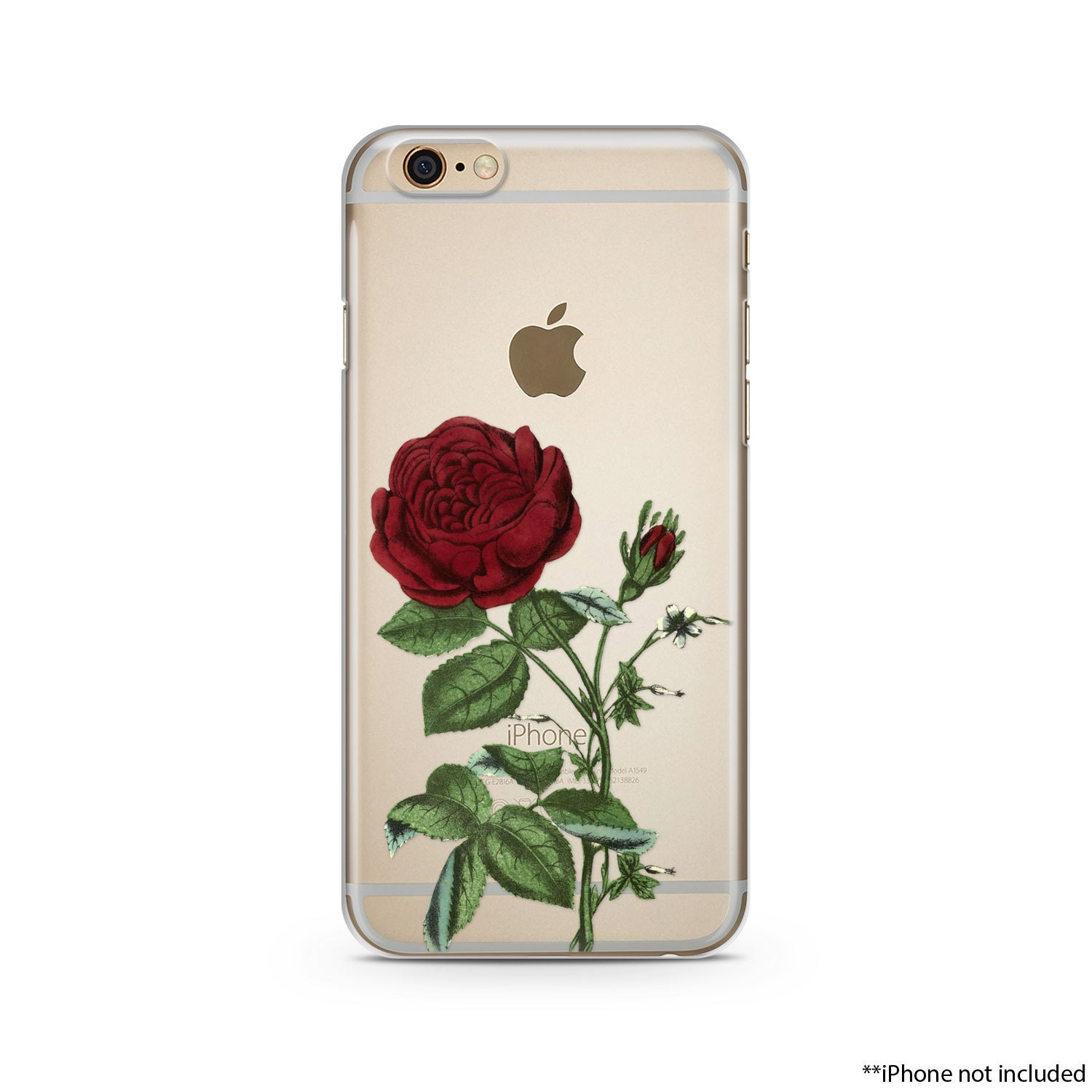Red Flower IPhone Case IPhone 6 Plus Case Transparent IPhone