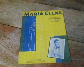 Vintage 1941, 'Maria Elena' Sheet Music