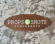 """Surfboard Style Custom Logo Sign - Personalized Office and Business Signage - 36"""" x 16"""" - Laser Cut"""