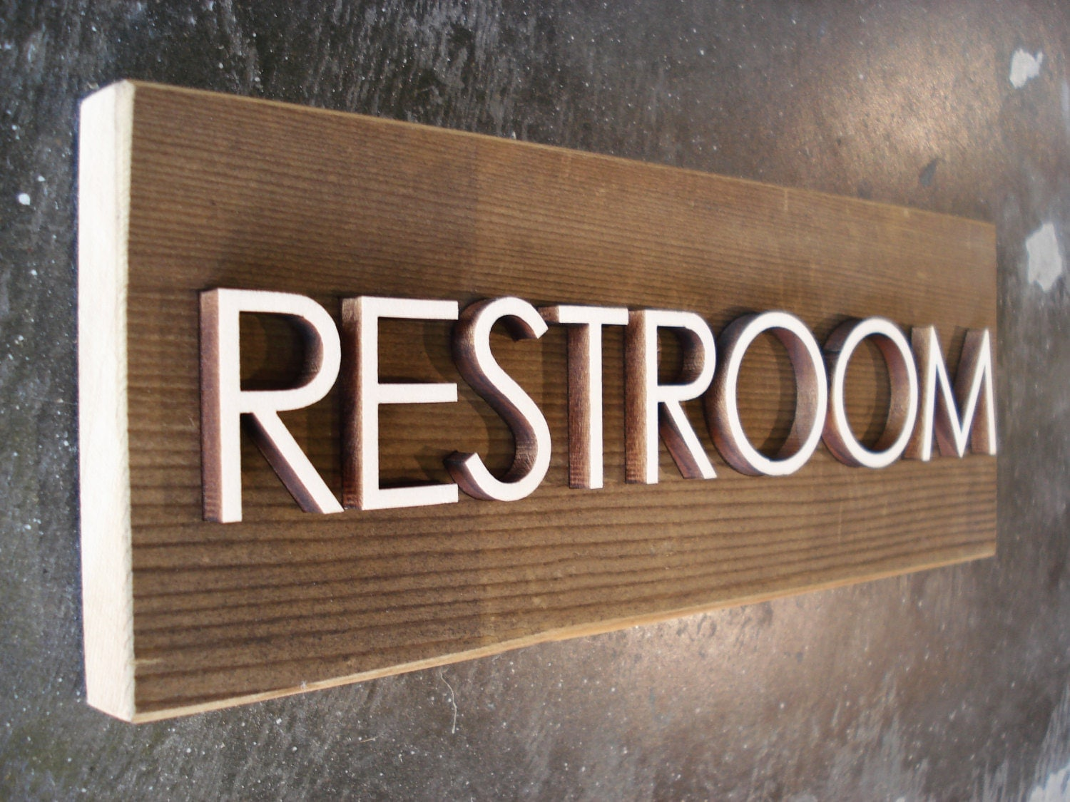 rustic bathroom signs reclaimed barnwood restroom sign rustic bathroom by grayskunk 14295