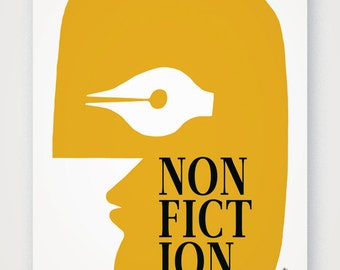 Non-Fiction (v.2). Fine quality print of original artwork. Hand signed.