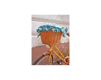 Water-Repellent Bike Basket Cover Bike Belle, Polka Mint