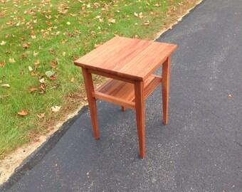 Mahogany end table