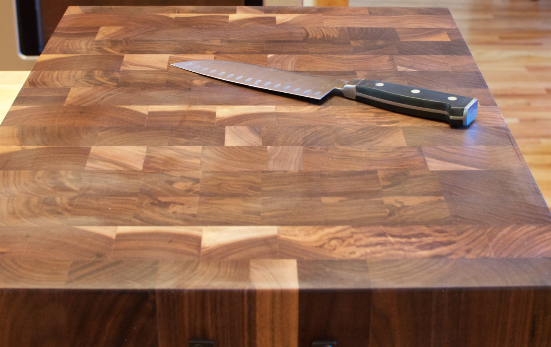 End Grain Cutting Board, Professional Walnut Wood Cutting Board, Large Wooden Cutting Board, Butcher Block FREE SHIPPING