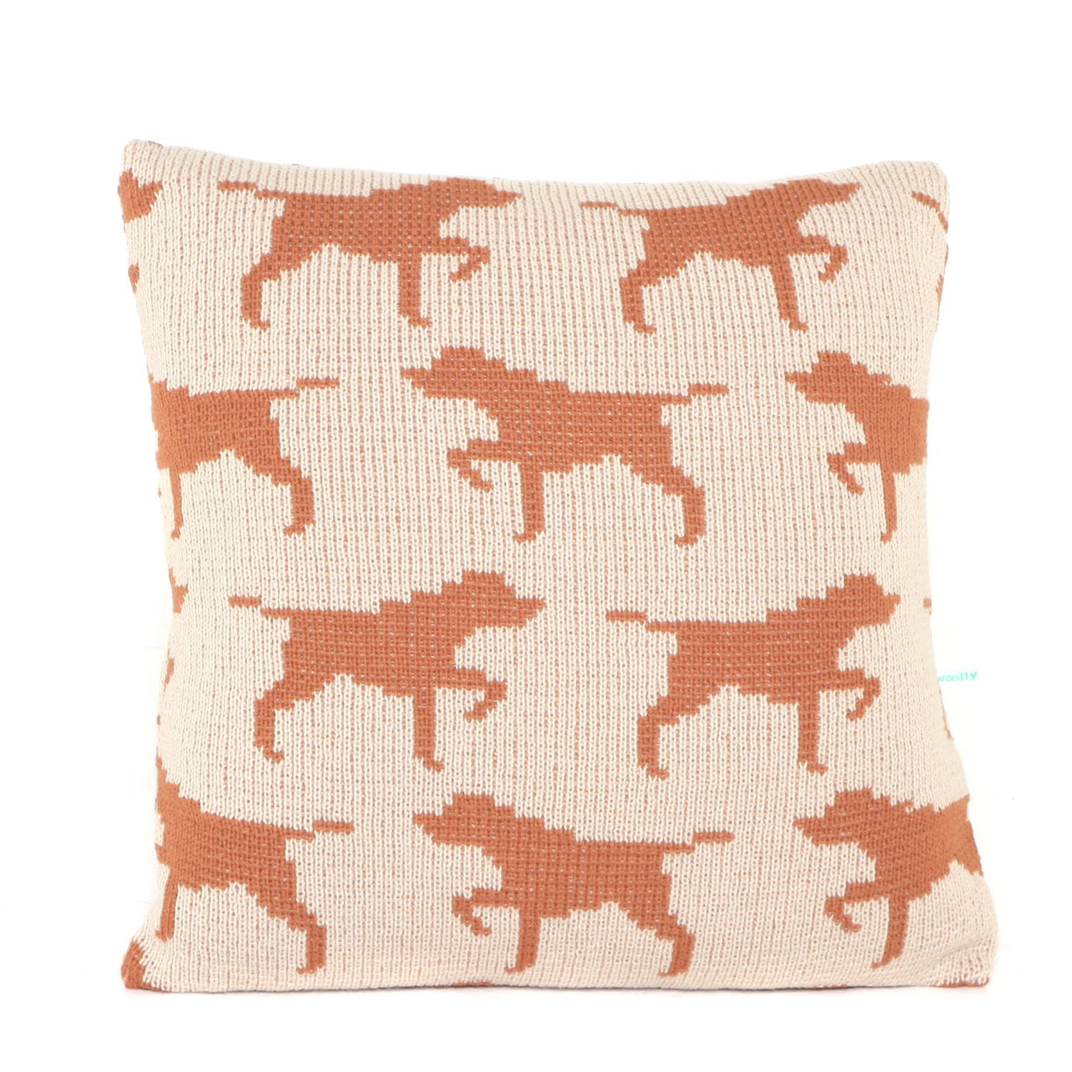 Pointer / Vizsla Dog Knitted Cushion Cover by WoollyWallaby