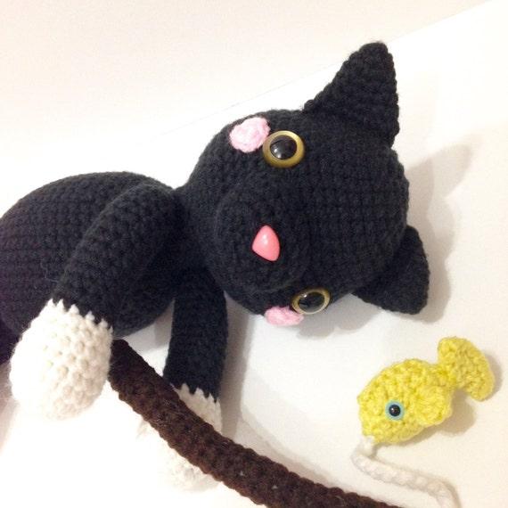 Amigurumi Cat Toys : Amigurumi Cat Amigurumi Black Cat Crochet Toy Cat by ...