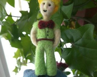 Little Prince needle felt ooak