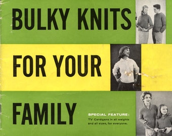 Bulky Knits For Your Family from Bernat | Vintage Craft Book