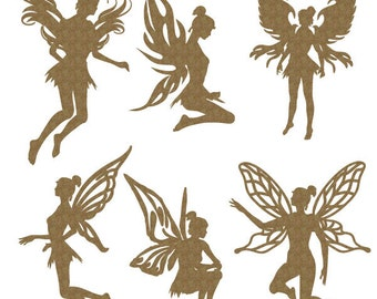Fairies Set of 6 Laser Cut Chipboard FREE SHIPPING! in US and Canada
