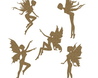 Tiny Fairies Set of 5 Laser Cut Chipboard FREE SHIPPING! in US and Canada