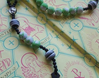 Green St. Pope JPII Kids Rosary