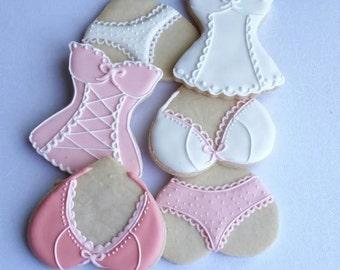 Corset cookies, Bachelorette  cookies, Lingerie cookies /1 Dozen