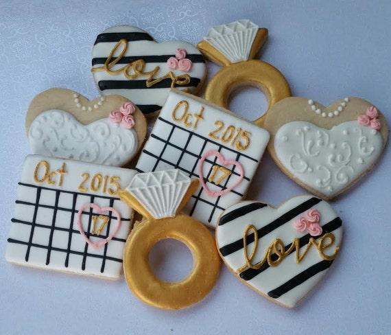 Bridal Shower Cookies, Engagement cookies / 1 dozen