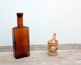 Apothecary bottle Old Vintage rare Antique bottle collection container