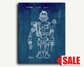 Patent Art - Robotic Figure Patent Wall Art Print