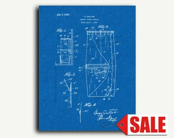 Patent Print - Comfort Shower Curtain Patent Wall Art Poster