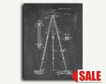 Patent Print - Camera Tripod Patent Wall Art Poster