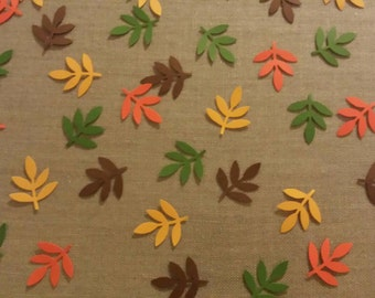 Fall leaves- Hand punched confetti- brown/orange/yellow/green fall/harvest/thanksgiving