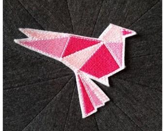 Crest Patch applies bird Origami Rose