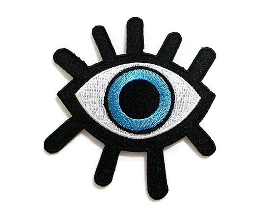 Big Eye New Sew / Iron On Patch Embroidered Applique Size 7.6cm.x8.4cm.
