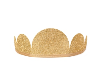 Glitter Gold  Party Crown