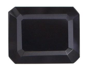 Thai Black Spinel Octagon Cut Loose Gemstone 1A Quality 10x8mm TGW 3.25 cts.