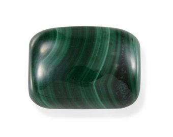 African Malachite Cushion Cabochon Loose Gemstone 1A Quality 14x10mm TGW 7.15 cts.