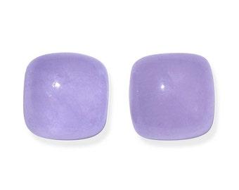Purple Jade Dyed Cabochon Loose Gemstones Cushion Set of 2 1A Quality 6mm TGW 2.00 cts.