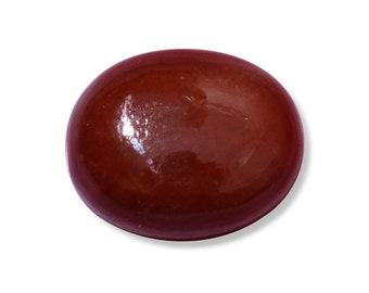 Red Jade Dyed Cabochon Loose Gemstone Oval 1A Quality 11x9mm TGW 3.70 cts.