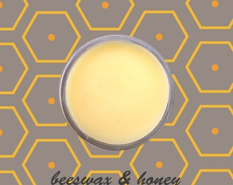 Natural, hand made lip balm with honey and beeswax