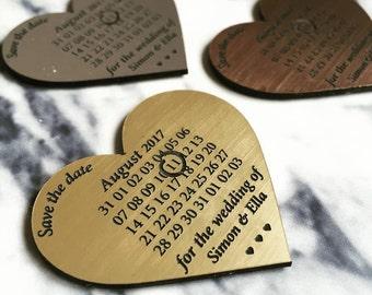 Metallic Perspex Calendar Save The Date Magnet