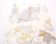 "Chinoiserie Fabric GP&J Baker Fabrics Fans Silver Fox 17"" x 17"" Viscose Cotton + FREE SAMPLES!!!"