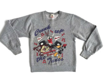 Vintage Looney Tunes Crank Up The Tunes Sweatshirt / size Small