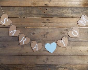 Heart Garland name - wedding / wedding decor, wedding / bridal / wedding accessory