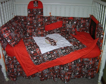 New Nursery Crib Bedding Set m/w San Francisco Giants Fabric