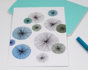Postcard Flowers – Water Color Illustration