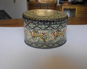 English round tin, Christmas