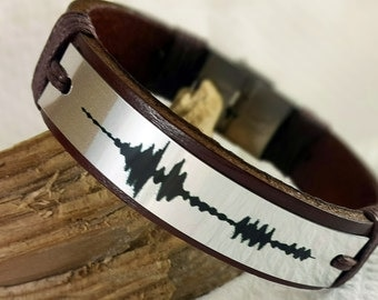 EXPRESS SHIPPING Sound waves bracelet. Personalized Womens Bracelet. Wedding anniversary