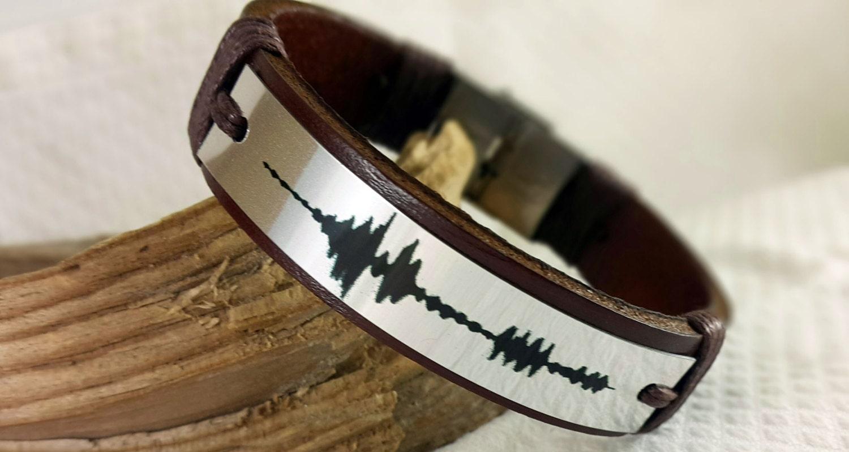 custom bracelet sound waves bracelet personalized womens
