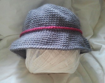 Cloche Hat; Acrylic Yarn; Ladies; Gifts; Ready to Ship