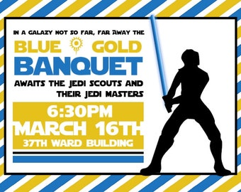 Cub Scouts Blue and Gold Banquet Invitations Star Wars Theme