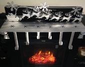 Christmas Metal Art Mantle Stocking Holder