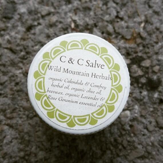 C amp c salve comfrey calendula herbal oil organic salve