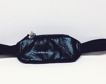 Insulin pump pouch / Black Pleather