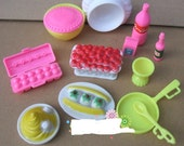 Barbie food, kitchen, barbie accessories for crafts, projects, cake, cupcake decorating u.s.shipper quick!