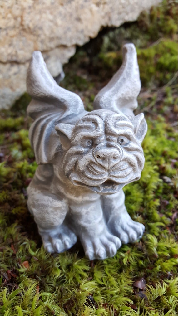 gargoyle garden decor dog gargoyle garden statue by firekdesigns, dog garden decor, dog themed garden decorations