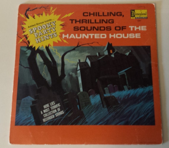 Vintage Disneyland LP Album Haunted House Record 1964