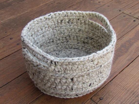Handmade Crochet Basket : Handmade crochet storage basket ready to ship